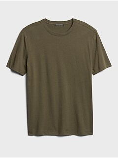 NWT Mens Banana Republic Wicking Spacedye Short Sleeve Performance T-Shirt *K2