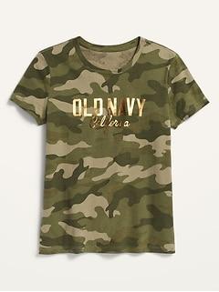 Oldnavy Logo-Graphic Short-Sleeve Tee for Girls