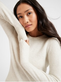 Bananarepublic Puff-Sleeve Sweater
