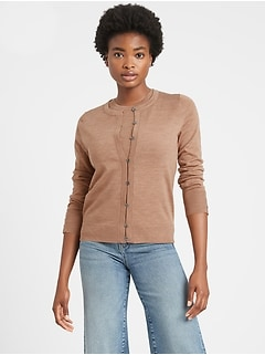Bananarepublic Merino Cardigan Sweater in Responsible Wool