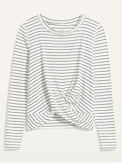 Oldnavy Relaxed Breathe ON Twist-Hem Cropped Top for Women
