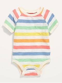 Oldnavy Unisex Slub-Knit Raglan Bodysuit for Baby Hot Deal