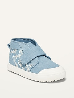 Oldnavy Unisex Mid-Top Chambray Chukka Sneakers for Toddler