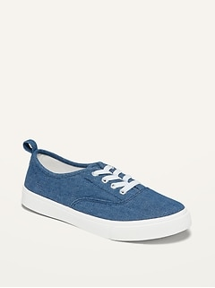 Oldnavy Lace-Up Chambray Sneakers for Girls