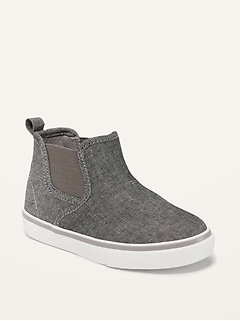 Oldnavy Unisex Chambray Mid-Top Slip-On Sneakers for Toddler
