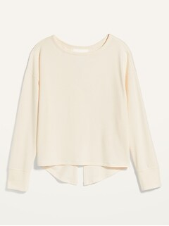 Oldnavy Lightweight French Terry Split-Back Sweatshirt for Women