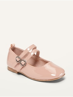 Oldnavy Double-Strap Patent Leather Ballet Flats for Toddler Girls