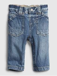 Baby Gap Baby Boy Infant  Flannel Lined Pull On Pants Size 0-3 Months