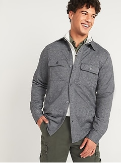 Oldnavy French Terry Shirt Jacket for Men