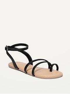 Oldnavy Faux-Leather Strappy Sandals for Girls
