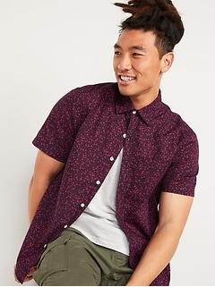 Oldnavy Printed Built-In Flex Everyday Short-Sleeve Shirt for Men