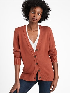 Bananarepublic Cotton-Hemp Long Cardigan Sweater