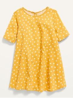 Oldnavy Elbow-Sleeve Swing Dress for Toddler Girls