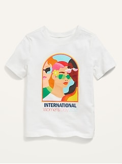 Oldnavy Project WE International Womens Day 2021 Tee by Jade Purple Brown for Toddlers