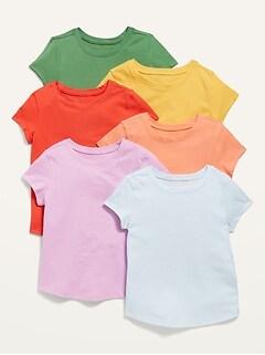 Oldnavy 6-Pack Short-Sleeve Tee for Toddler Girls
