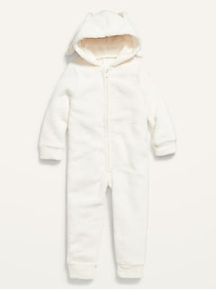 Oldnavy Bunny-Critter Hooded Sherpa One-Piece for Toddler Boys