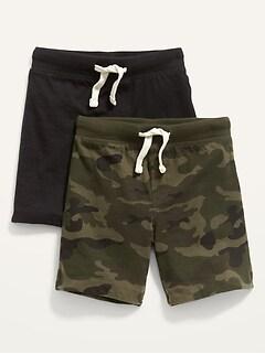 Oldnavy Unisex Jersey-Knit Jogger Shorts 2-Pack for Toddler