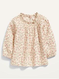 Oldnavy Smocked-Neck Floral-Print Top for Toddler Girls