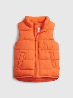 갭 여아용 푸퍼 조끼 GAP Toddler ColdControl Max Puffer Vest,sport orange