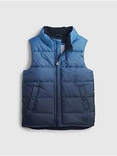 갭 여아용 푸퍼 조끼 GAP Toddler ColdControl Max Puffer Vest,elysian blue