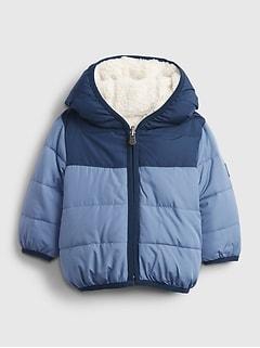 갭 여아용 푸퍼 자켓 GAP Baby ColdControl Max Reversible Jacket,bainbridge blue