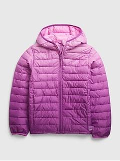 갭 걸즈 푸퍼 자켓 GAP Kids 100% Recycled Polyester ColdControl Puffer Jacket,purple ombre